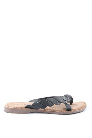 Lazamani Toe-Post sandals black-brown casual look