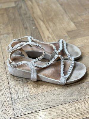 Lazamani Leder  Sommer Sandalen in beige gr 38