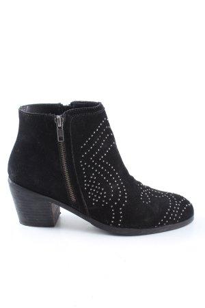 Lazamani Reißverschluss-Stiefeletten schwarz Casual-Look