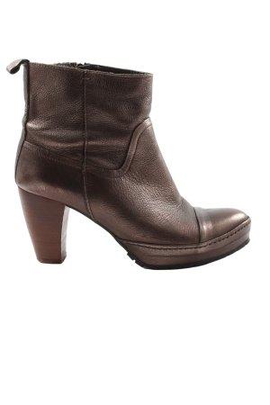 Lazamani Reißverschluss-Stiefeletten bronzefarben Business-Look