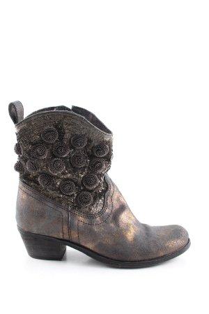 Lazamani Reißverschluss-Stiefeletten bronzefarben extravaganter Stil