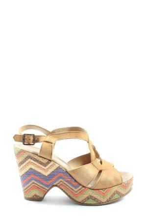 Lazamani Sandały klinowe na obcasie kremowy W stylu casual