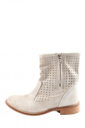 Lazamani Western Booties natural white casual look