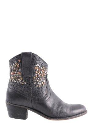 Lazamani Western Boots black casual look
