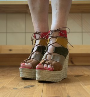 Lazetti Sandalette mit Keilabsatz Gr. 39