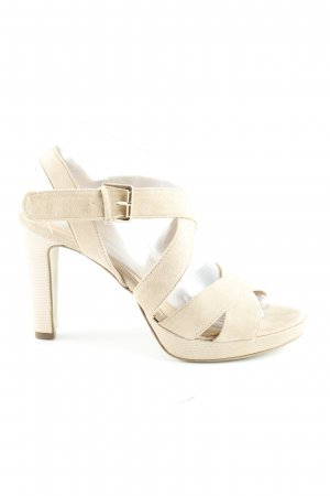 lazzarini High Heel Sandaletten creme Casual-Look