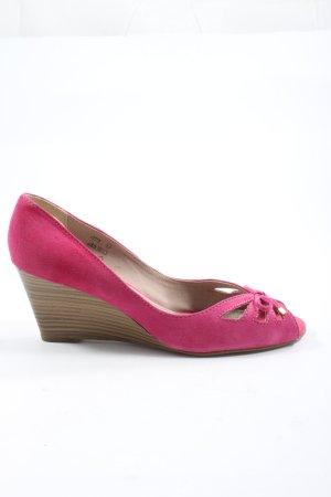 lazzarini Wedge Pumps pink casual look