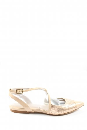lazzarini Slingback Ballerinas cream casual look