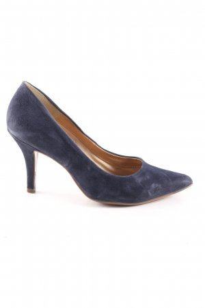 lazzarini Spitz-Pumps blau Business-Look