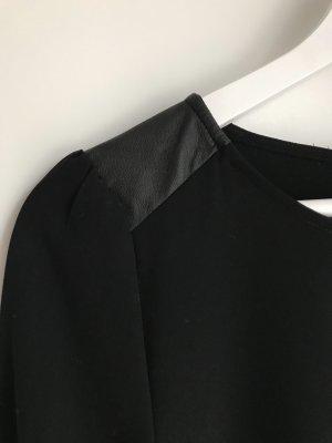 LBD Das kleine Schwarze - Schwarze Kleid mit Lederdetail