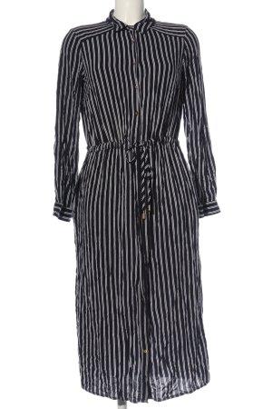 LC Waikiki Blusenkleid schwarz-weiß Streifenmuster Casual-Look