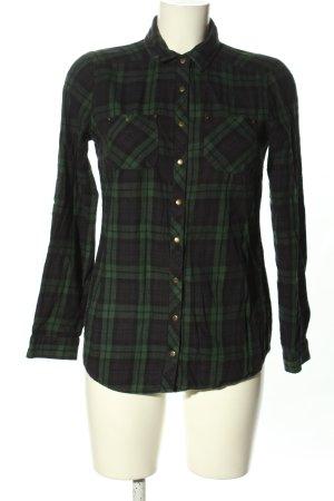 LC Waikiki Camisa de leñador negro-verde estampado a cuadros look casual
