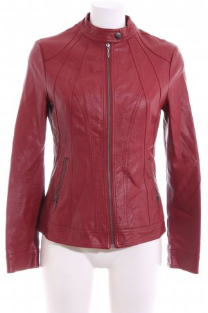 LC Waikiki Faux Leather Jacket red casual look