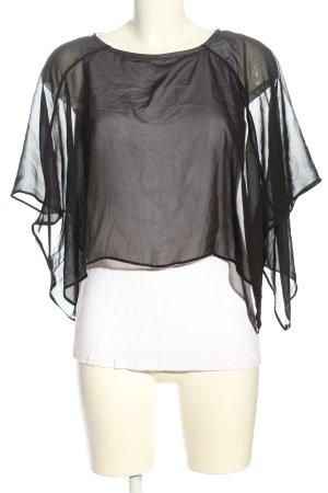 LC Waikiki Schlupf-Bluse schwarz-weiß Casual-Look