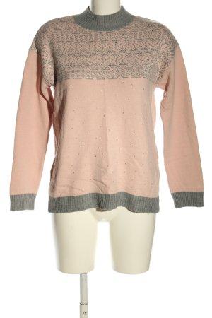 LC Waikiki Pull tricoté rose-gris clair motif graphique style décontracté