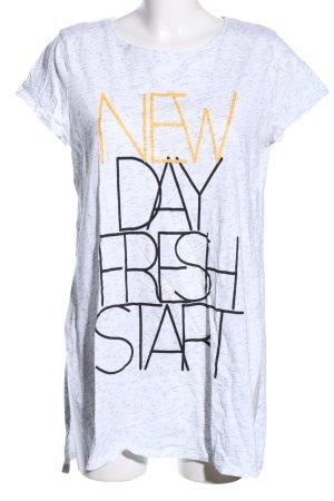 lcw casual Print-Shirt weiß meliert Casual-Look