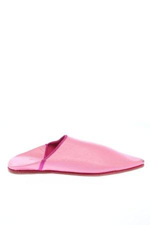 LDN Pantoufles rose style décontracté