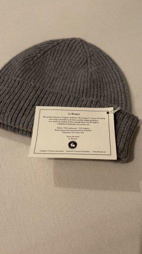Le Bonnet Amsterdam Beanie Grau Mütze Wollmütze Wolle