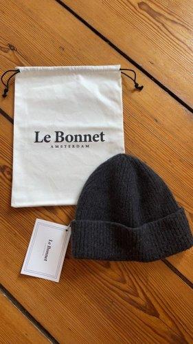 Le Bonnet Beanie grijs-donkergrijs Wol