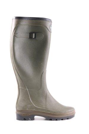 Le chameau Wellington laarzen khaki casual uitstraling