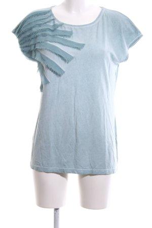 Le Comte Oversized Shirt blau Casual-Look