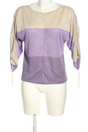 Le Comte Strickshirt lila-creme Casual-Look