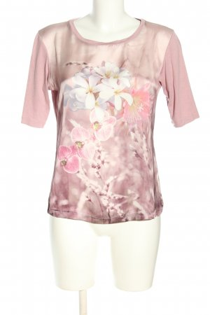Le Comte T-Shirt pink-wollweiß Allover-Druck Casual-Look