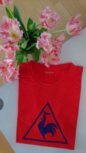 le coq sportif - 100% Baumwolle T-Shirt (rot/dunkelblau)
