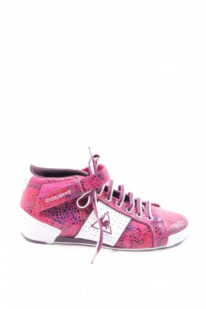 Le coq sportif Schnürsneaker pink-weiß Animalmuster Casual-Look