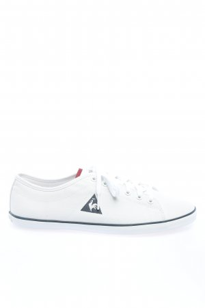Le coq sportif Schnürsneaker weiß-schwarz abstraktes Muster Casual-Look