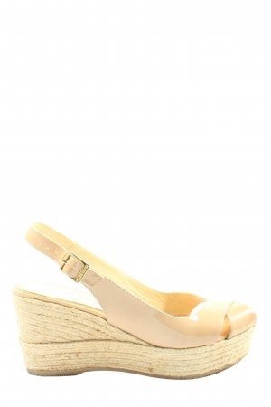 le crabe rouge Platform Sandals natural white casual look