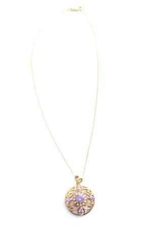 Le diamantaire Collier goldfarben-lila Elegant
