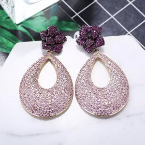 Pessina-Jewelry Pendientes de oro rojo zarzamora-rosa