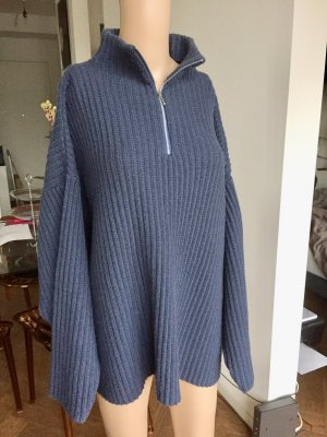 Le FROG Long Wollpullover, Blau Gr. M, 29€