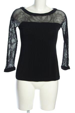 Le group woman Netshirt zwart casual uitstraling