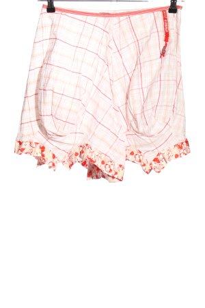 Le Jean De Marithé + Francois Girbaud Falda asimétrica blanco puro-rojo