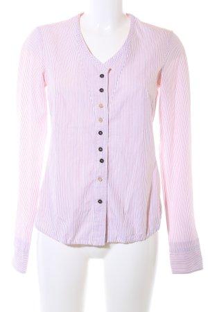 Le Jean De Marithé + Francois Girbaud Hemd-Bluse pink-weiß Streifenmuster