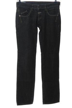 Le Jean De Marithé + Francois Girbaud Straight-Leg Jeans schwarz Casual-Look