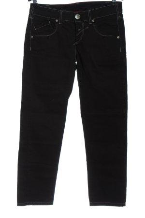 Le Jeande Marithe Francois Girbaud Jeans taille basse noir style décontracté