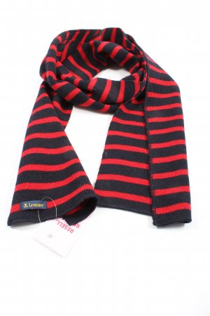 le minor Knitted Scarf red-black striped pattern casual look