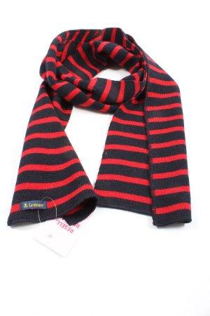 le minor Écharpe en tricot rouge-noir motif rayé style décontracté