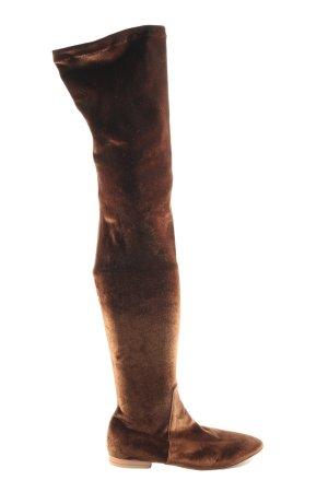 le monde beryl Wide Calf Boots brown casual look