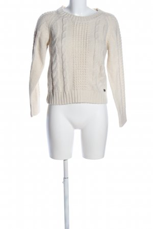Le mont st. michel Strickpullover creme Zopfmuster Casual-Look
