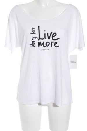 Le Motto T-Shirt weiß-schwarz Casual-Look