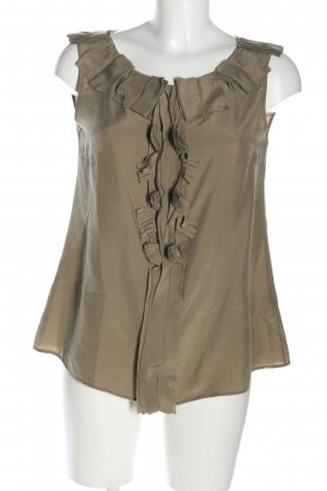 Le Sarte Pettegole Frill Top bronze-colored casual look