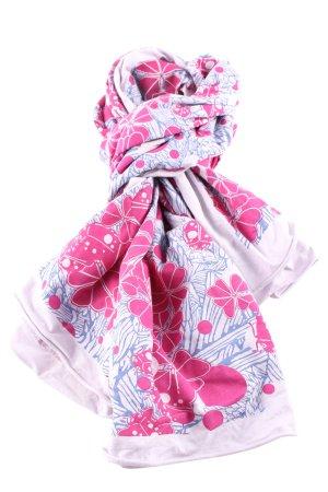Le.Sens Halstuch pink-blau Blumenmuster Casual-Look