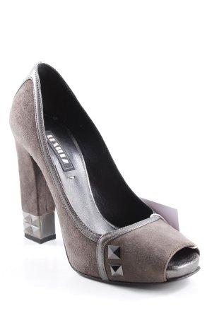 Le Silla High Heels schwarz-taupe extravaganter Stil