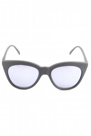 Le Specs Butterfly Brille schwarz-dunkelblau Street-Fashion-Look
