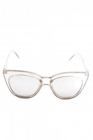 Le Specs Butterfly Brille silberfarben Casual-Look