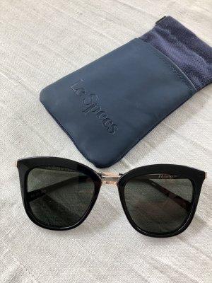 Le Specs Oval Sunglasses black-gold-colored